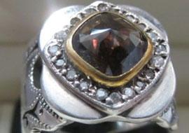 انگشتر فاخر الماس ایرانی
